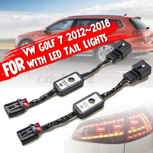 Semi Dynamic LED Indicator Flasher Minibox Adapters Rear Light For VW Golf   ⇪