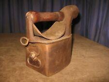 Antique Vintage Coal Burning Sad Flat Iron Primitive Cast Chimney Heat Shield