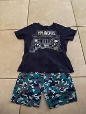 Gymboree Boys Short Outfit Size Camo print short with matching shirt