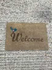 JVL Welcome Coir PVC Backed Entrance Door Mat Indoor / Outdoor 40 x 70cm