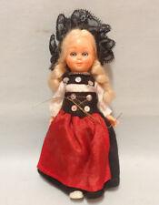Vintage Austrian Doll Blond Girl in National Costume Sleeping eyes