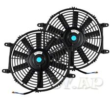 "Universal 2X 10"" Slim/Thin Push/Pull Electric Radiator/Engine Cooling Fan Black"