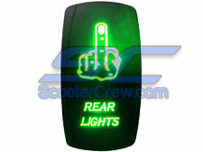 UTV Box Switch Green Led On Off Rear Lights Toggle Square 5 pin Dune Sand 1900