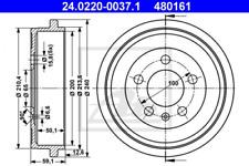 2x Bremstrommel für Bremsanlage Hinterachse ATE 24.0220-0037.1