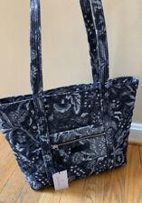 VERA BRADLEY Foxwood Navy Floral Iconic Small Vera Tote Bag Purse NWT Blue