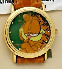 Garfield Watch Gold Tone W/ Garfield on Dial 36 mm Watch New