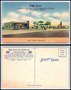 NEW MEXICO Postcard - Las Cruces, Neff Court & Restaurant R8