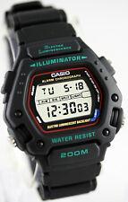 Casio DW-290-1V Mens Black 200m WR Sports Watch Digital Alarm Chronograph New