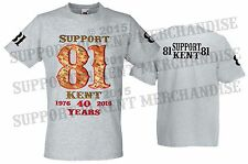 SUPPORT 81 KENT HELLS ANGELS ENGLAND T Shirt Short Sleeve Cotton BIG RED MACHINE