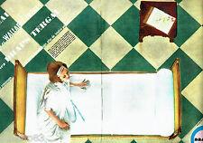 PUBLICITE ADVERTISING 1016  1963  Les draps Tergal ( 2pages)