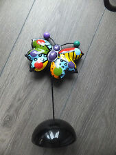 "Romero Britto ""Monarch Butterfly"" Schmetterling Skulptur Original Verpackt 2011"