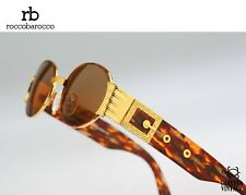 Roccobarocco 5832G 03 Hand made Vintage 90s gold & tortoise steampunk sunglasses