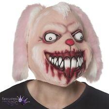 Horror Evil Killer White Bunny Rabbit Deluxe Halloween Fancy Dress Costume Mask