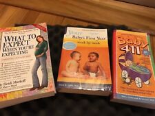 4 Pack Baby Pregnancy Books, Baby's First Year, Baby 411, What To Expect - GOOD