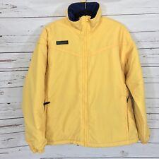 columbia mens  jacket yellow fleece lined Size Large