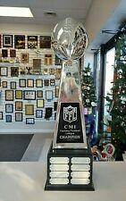 Ex Large Chrome Lombardi Style 8 Yr Fantasy Football Perpetual Trophy 144C/Md *