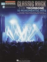 Classic Rock for Trombone Easy Instrumental Play-Along Music Book & Audio