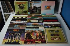 CLASSIC ROCK LOT #10 48 LPs KISS THE BEATLES WHO ALLMAN BROTHERS WHITESNAKE