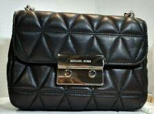 Michael Kors Black Mini Quilted Crossbody Handbag Small Shoulder Chain - NWT
