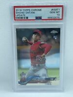 2018 Topps Chrome Update Shohei Ohtani Angels RC Rookie PSA 10 GEM MINT HMT1