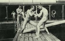 Eugene Jansson Naked Boxers in the Bathhouse 1905 France 7x4 Inch Reprint Photo