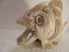 Fake Piranha Fish Skeleton Jaws Poseable Boney Halloween Haunted House 9 1/2""