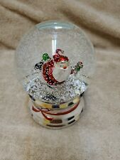 Santa Skating Wind Up Snow Globe Revolving Musical Jingle Bells 2007 Slatkin
