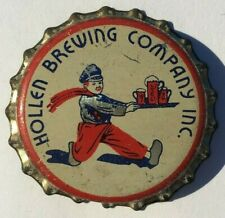 HOLLEN BEER BOTTLE CAP; 1936-38; WARWICK, RI; UNUSED CORK