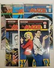 THE MAZE AGENCY #1-5 FN/VF-NM 1988 COMICO COMICS BARR HUGHES MAGYAR