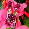 Purple Granat Diamant Ohrschmuck Hänger VELVET AND DROPS 750er Gold SW 8.240.-Eu