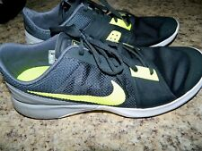 Men's Nike Gray & Neon Yellow Training Athletic Tennis Shoes Size 11.5
