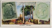 1861 1 Shilling Nevis Postage Stamp 1930s Trade Ad Card