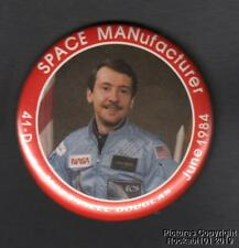 1984 Charles Walker / Mc Donald Douglas Astronaut Pin Pinback Button