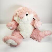 Vintage Rabbit Plush Chrisha Playful Plush Pink Bunny Stuffed 1988 Floppy Ears