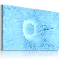 BLUE DEPTH DESIGN, ABSTRACT, Canvas Wall Art Abstract Picture Large SIZES !346!