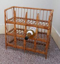 12 Bottle - Cane Wine Rack - 1970's Vintage -