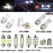 14Pcs White LED Interior Bulbs Kit For T10 36mm Map Dome License Plate Lights