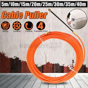 4mm Orange Fiberglas Kabelzieher Kabel Einziehhilfe Einziehspirale  &* *& !