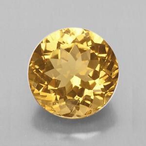 5mm / 6mm ROUND FACETED GOLDEN YELLOW GENUINE CITRINE LOOSE GEMSTONE