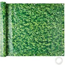 Balcony Privacy Screen Windbreak Panel Wind Protection 0.75 x 6 m green foliage