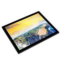 A3 Glass Frame - Bixby Bridge California USA Art Gift #3106
