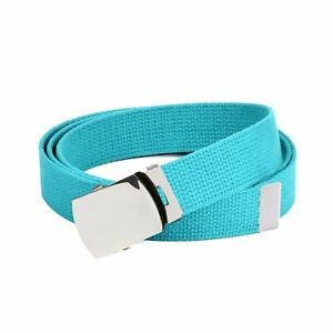 Hold'Em Military Canvas Webbing Belts for MEN'S–Polished Silver Buckle – Univers