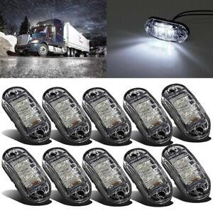 10x Cool White 2 LED Side Marker Clearance Lights Indicators Trailer Caravan RV