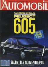 L'AUTOMOBILE MAGAZINE n°519 09/1989 Spécial Salon 605
