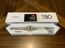 Timex T80 Silver 34mm Watch Stainless Steel Bracelet Brand New Sold Out