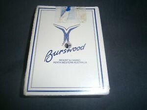 Burswood Casino Playing Cards Western Australia -Blue Hole punched-Free Postage