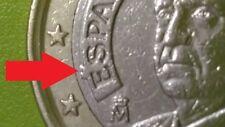 ERRORE 🇪🇸 CONIO DEFECT 1 EURO 2003 SPAGNA SPAIN ECCEDENZA DI METALLO RARA R!!!