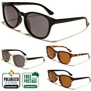 Giselle Polarised Sunglasses - Vintage / Retro Round Frame - Polarized Lens