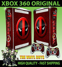 XBOX 360 OLD SHAPE STICKER DEADPOOL LOGO 002 MERC WITH A MOUTH SKIN & PAD SKINS