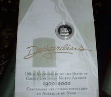CANADIAN 2000 -Ten Cents Proof - .925 SILVER - Desjardins 100TH ANNIVERSARY-
